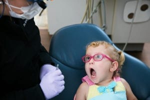 Regular dental visits are very important for children.